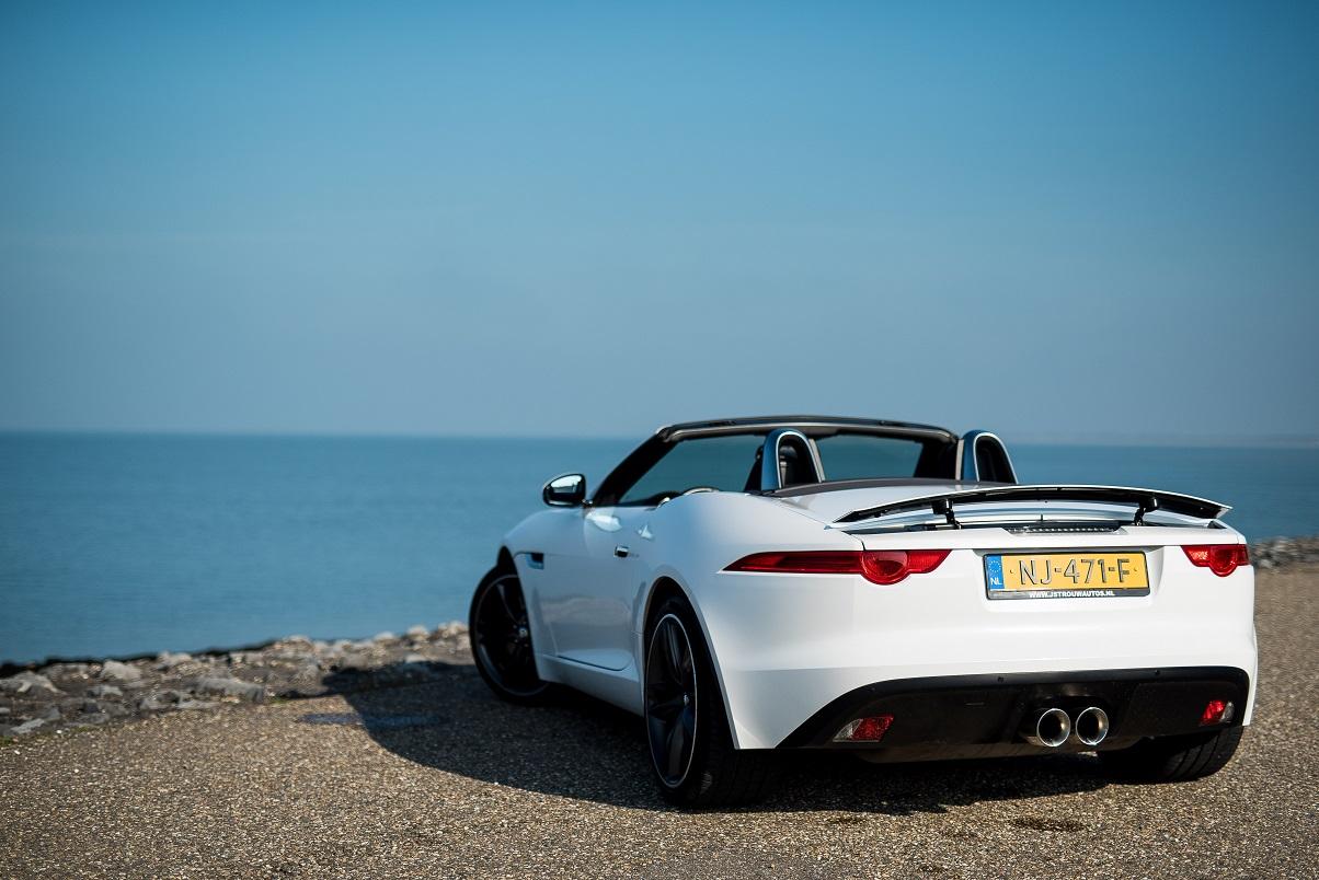 Jaguar F-Type rear white